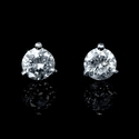Diamond .84 Carat 18k White Gold Stud Earrings