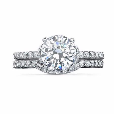 Natalie K Diamond 14k White Gold Engagement Ring Setting