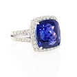 .95ct Diamond and Tanzanite 18k White Gold Ring