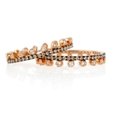 Diamond 18k Rose Gold and Black Rhodium Eternity Ring Set