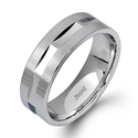 Simon G Men's 14k White Gold Wedding Band Ring