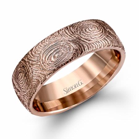 simon g men 39 s 14k rose gold wedding band ring. Black Bedroom Furniture Sets. Home Design Ideas