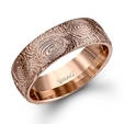 Simon G Men's 14k Rose Gold Wedding Band Ring