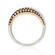 .45ct Diamond 18k Two Tone Gold and Black Rhodium Ring