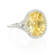 .37ct Diamond and Yellow Zirconia 14k White Gold Ring