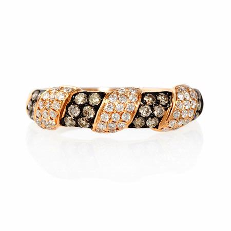 .19ct Diamond 18k Rose Gold and Black Rhodium Ring