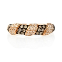 Diamond 18k Rose Gold and Black Rhodium Ring