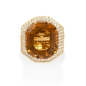 Diamond, Yellow Sapphire and Citrine 18k Yellow Gold Ring