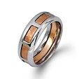 Simon G Men's 14k Two Tone Gold Wedding Band Ring