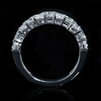 1.49ct Diamond 18k White Gold Wedding Band Ring