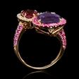 .27ct Diamond, Pink Sapphire, Pink Toumaline and Purple Amethyst 18k Rose Gold Ring