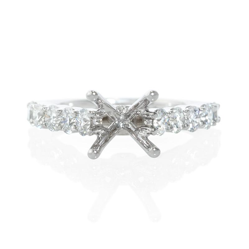 89ct diamond platinum engagement ring setting