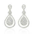 2.21ct Diamond 18k White Gold Dangle Earrings