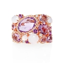 Diamond and Amethyst 14k Rose Gold Ring