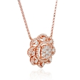 1.04ct Diamond 18k Rose Gold Pendant Necklace