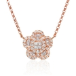 .39ct Diamond 18k Rose Gold Pendant Necklace