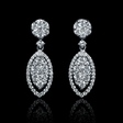 1.57ct Diamond 18k White Gold Dangle Earrings