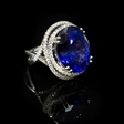 .80ct Diamond and Tanzanite 18k White Gold Ring