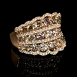 2.90ct Diamond 18k Rose Gold Ring