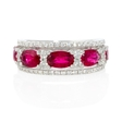 .52ct Diamond and Ruby 18k White Gold Ring