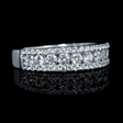 .87ct Diamond 18k White Gold Ring