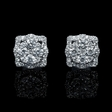 1.41ct Diamond 18k White Gold Cluster Earrings