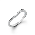 .12ct Simon G Diamond Antique Style 18k White Gold Wedding Band Ring