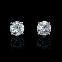 Diamond .92 Carat 14k White Gold Stud Earrings
