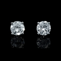 Diamond .94 Carat 14k White Gold Stud Earrings