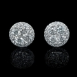 2.28ct Diamond 18k White Gold Cluster Earrings