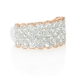 3.03ct Diamond Antique Style 18k Two Tone Gold Ring