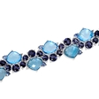 .21ct Diamond, Blue Sapphire, Tanzanite and Blue Topaz 18k White Gold Bracelet
