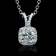1.23ct Diamond 18k White Gold Pendant
