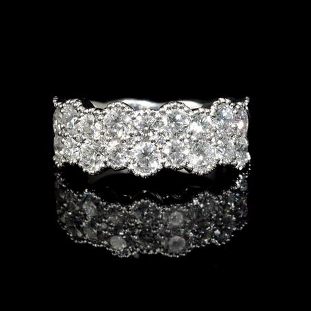 Diamond Antique Style 18k White Gold Ring