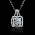 .99ct Diamond 18k White Gold Pendant
