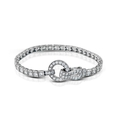 4.98ct Simon G Diamond Antique Style 18k White Gold Bracelet