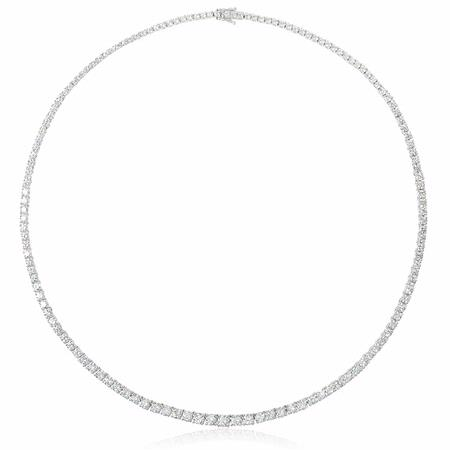 10.36ct Diamond 18k White Gold Tennis Necklace