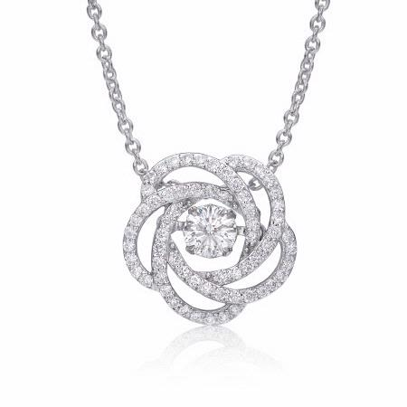 Christopher Designs Diamond 14k White Gold Pendant Necklace