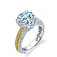 1.03ct Simon G Diamond Antique Style 18k Two Tone Gold Engagement Ring Setting