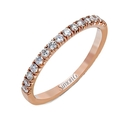 Simon G Diamond 18k Rose Gold Wedding Band