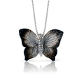 .10ct Simon G Diamond 18k White Gold Butterfly Pendant Necklace