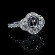 .81ct Diamond 18k White Gold Halo Engagement Ring Setting