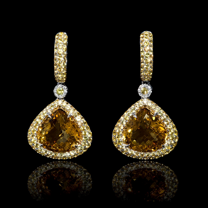 n gold jewelers white sapphire don diamond yellow basch earrings