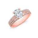 Natalie K Diamond 18k Rose Gold Engagement Ring Setting