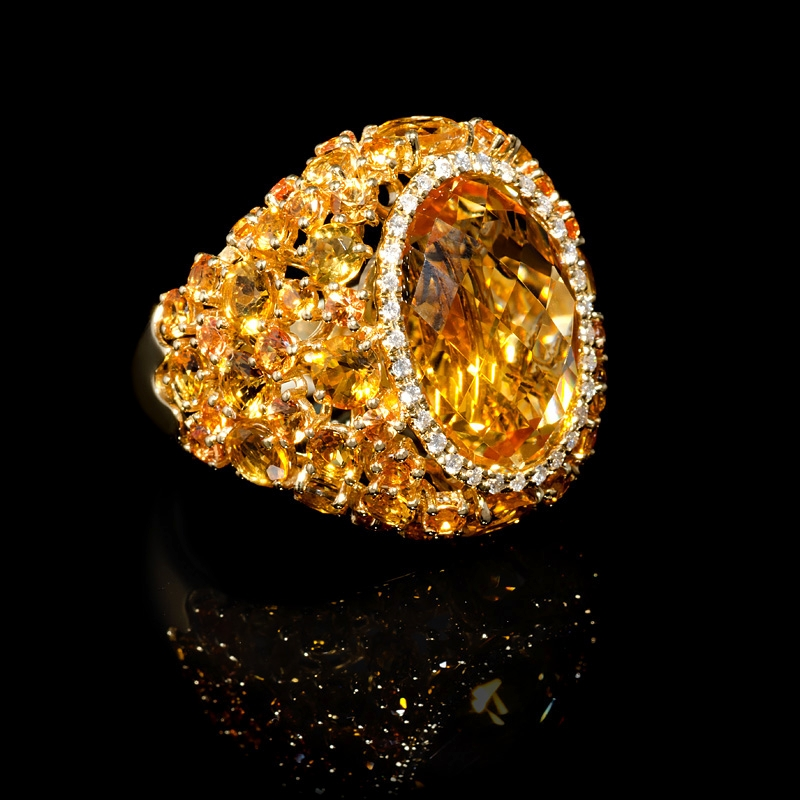 jewelry shop synthetic citrine yellow ring diamond rings gold womens gemstone oval
