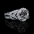 1.36ct Diamond 18k White Gold Halo Engagement Ring Setting
