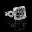 1.15ct Diamond 18k White Gold Halo Engagement Ring Setting
