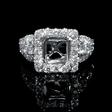1.35ct Diamond 18k White Gold Halo Engagement Ring Setting