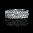2.00ct Diamond 18k White Gold Three Row Ring