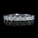 Diamond 1.02 Carat 18k White Gold Round Brilliant Cut Wedding Band Ring